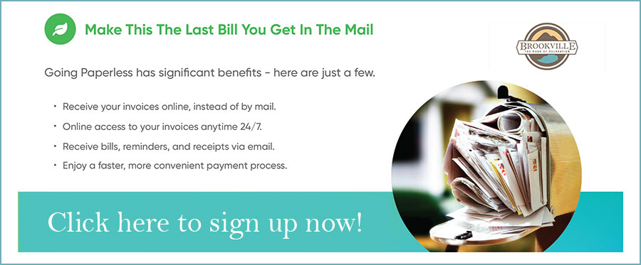 Click to sign up for paperless billing!